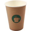 Single-walled cup, Paper, 12oz, 110mm,