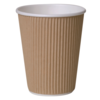 Ripple cup, Paper, 8oz, 92mm, brown