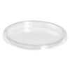 Lid, pET, round, transparent