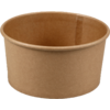 Container, kraft et plastique , 750ml, 60mm, brown